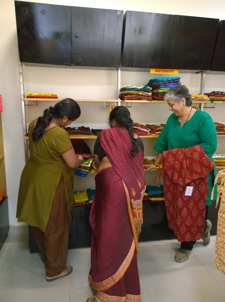 Kalpana at her store using her Unique Selling Power