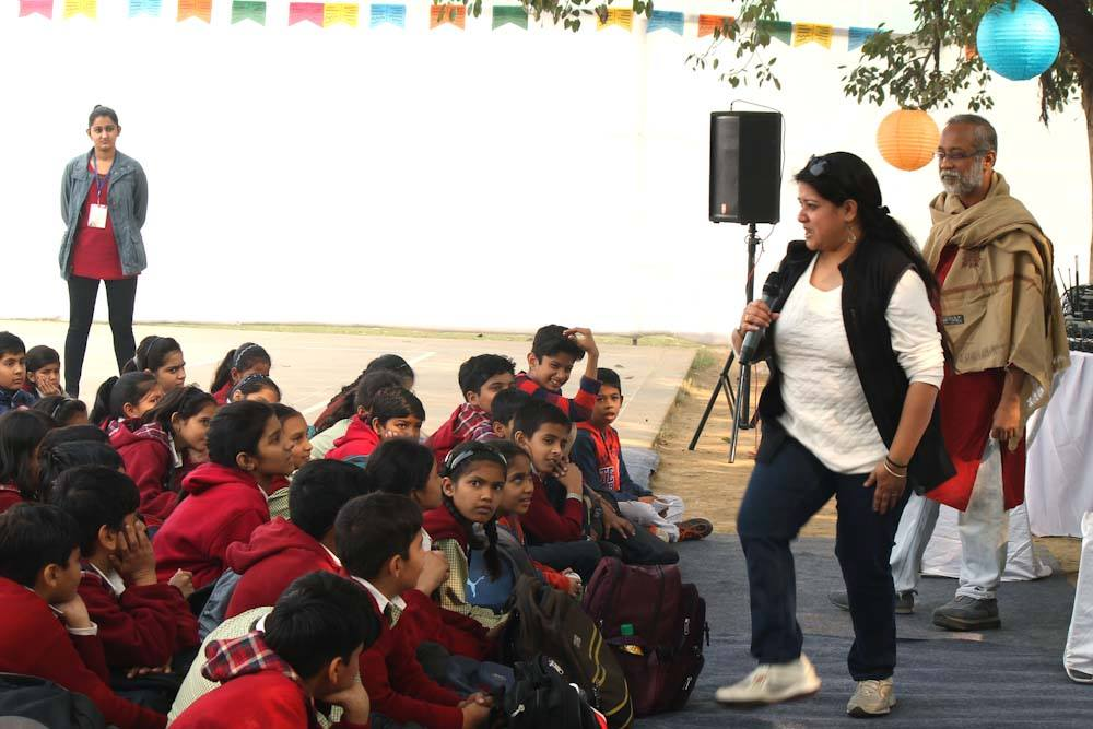 Storytelling with Santanil Ganguly under the Kahaani Tree at Bookaroo Children's Literature Festival November 2015